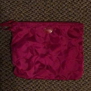 Pink Coach pouch